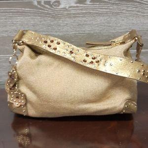 THE SAK Gold Glitter Queen BEE hand bag